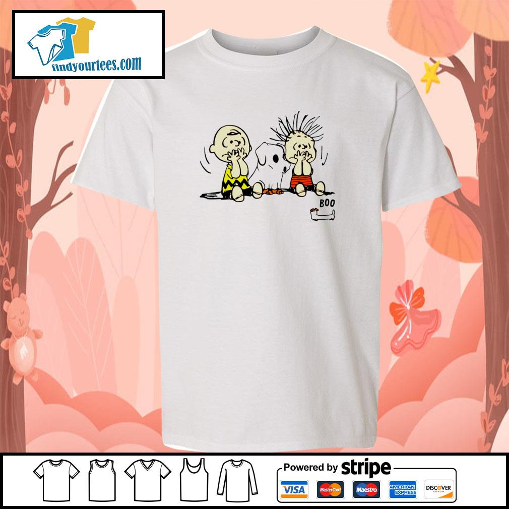 The peanuts dachshund ghost boo s youth-tee