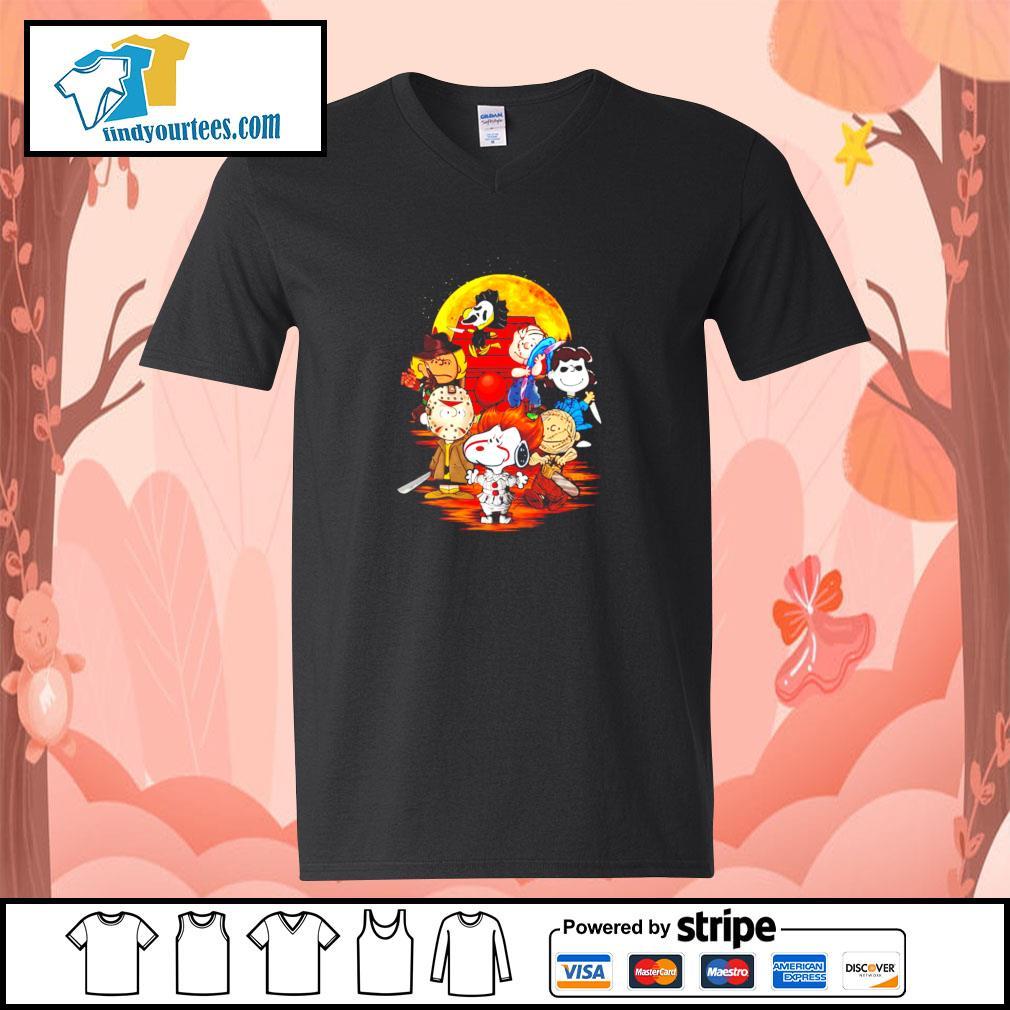 The peanuts movie horror character halloween s v-neck-t-shirt