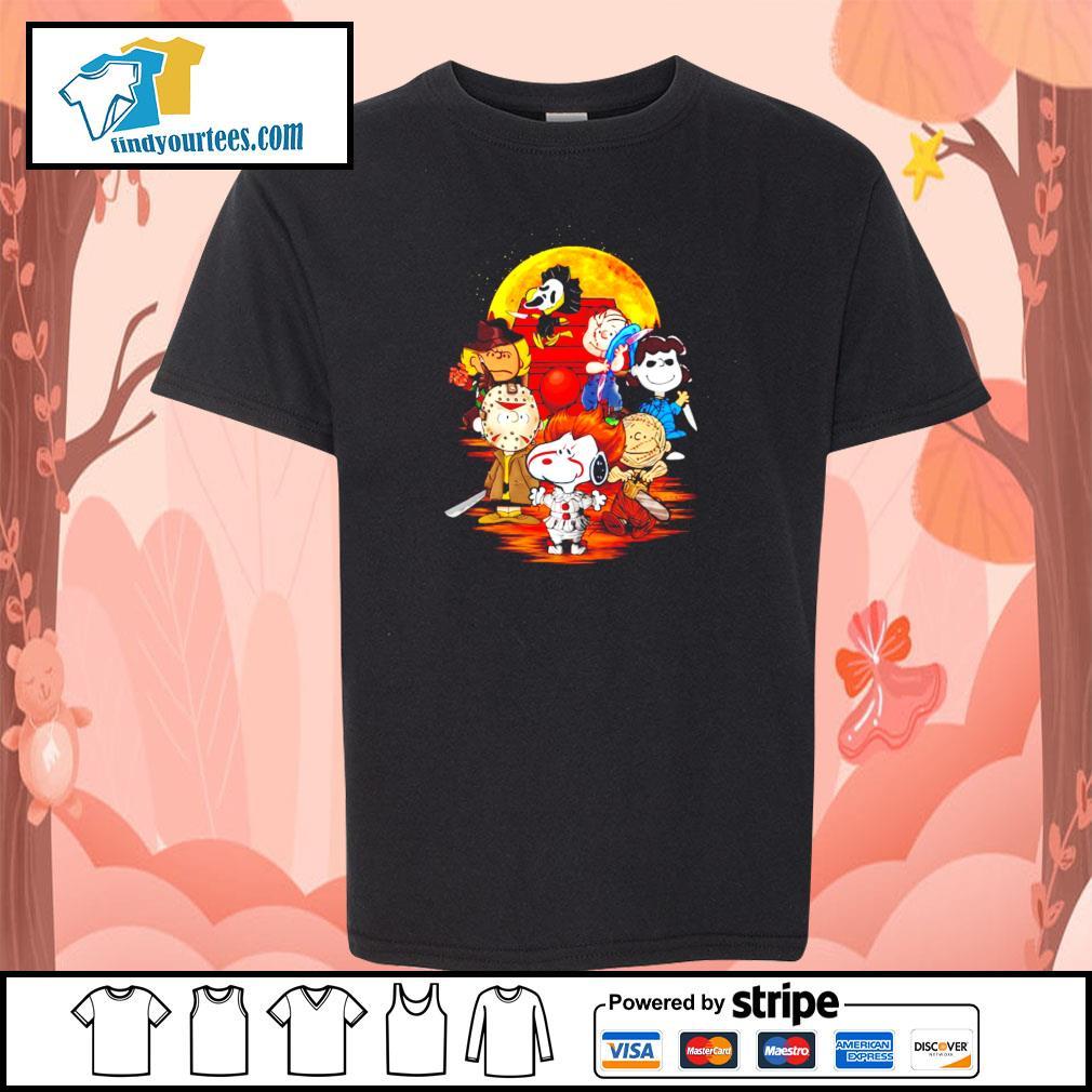 The peanuts movie horror character halloween s youth-tee