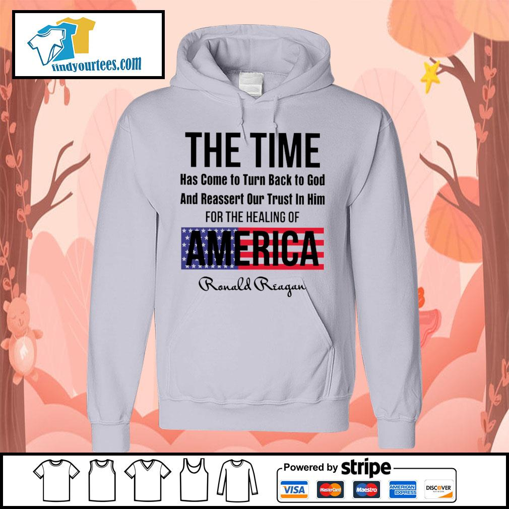 The time has come to turn back to god and reassert our trust in him for the healing of America s Hoodie