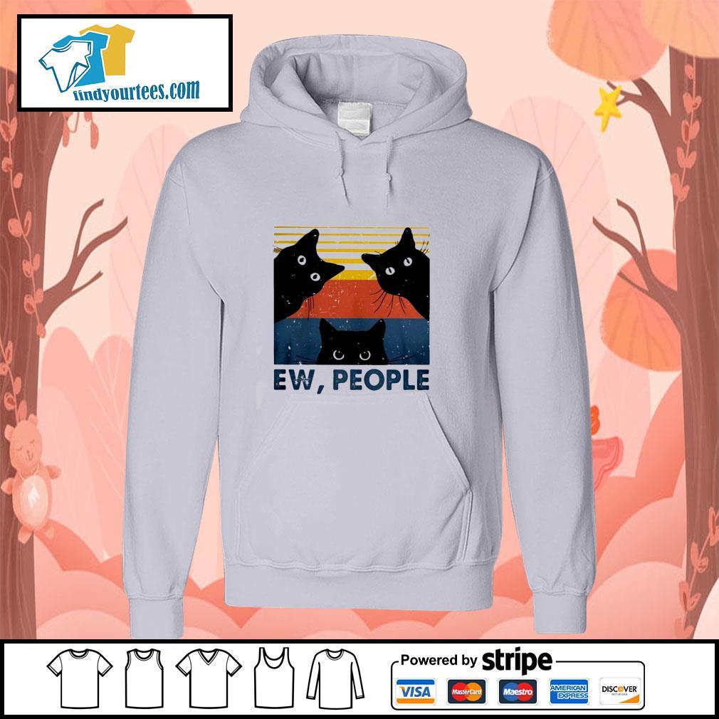 Three black cat ew people vintage s hoodie