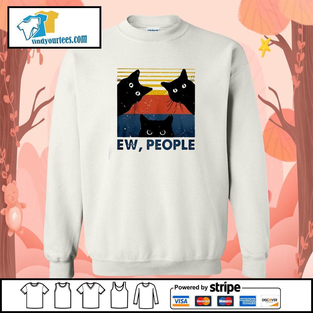 Three black cat ew people vintage s sweater