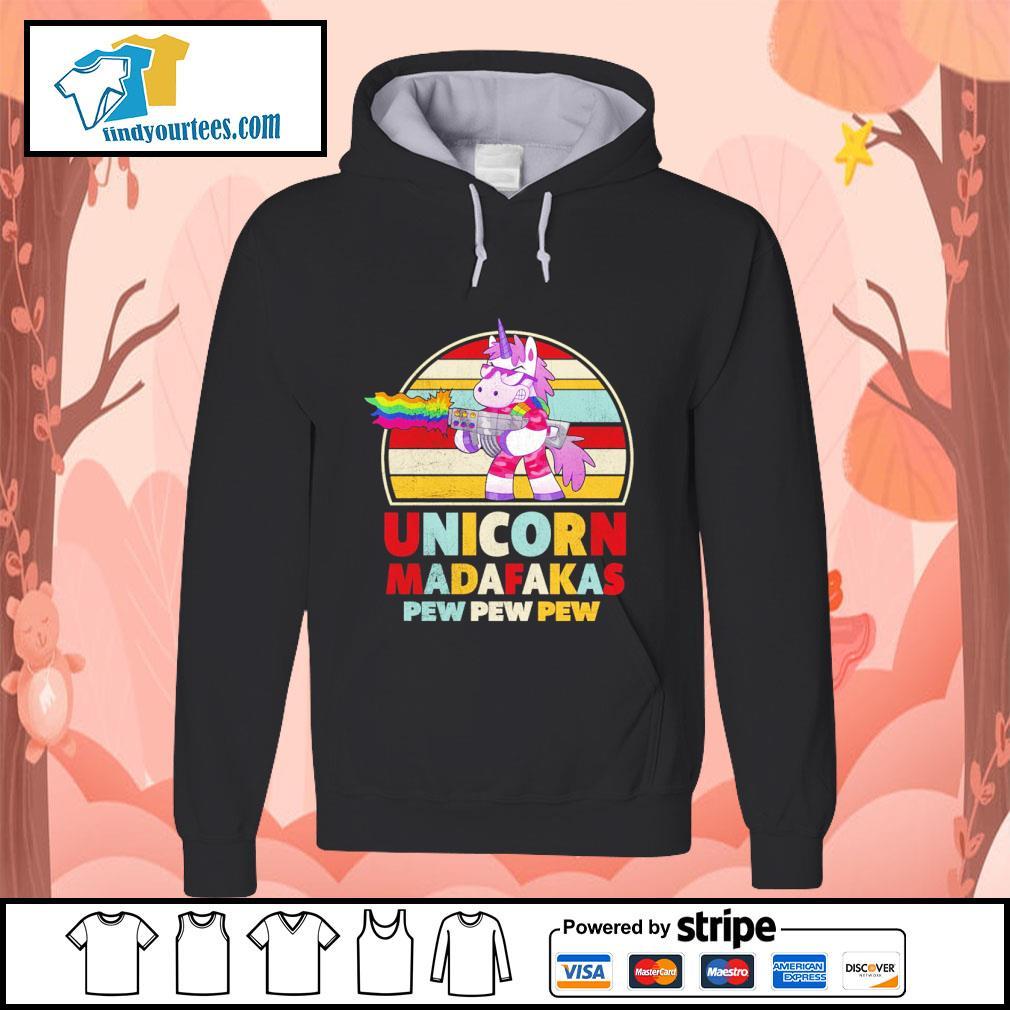 Unicorn madafakas pew pew pew vintage LGBT s hoodie
