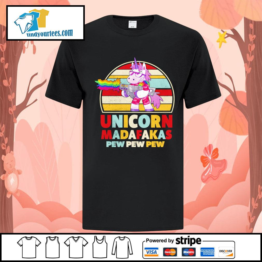 Unicorn madafakas pew pew pew vintage LGBT shirt