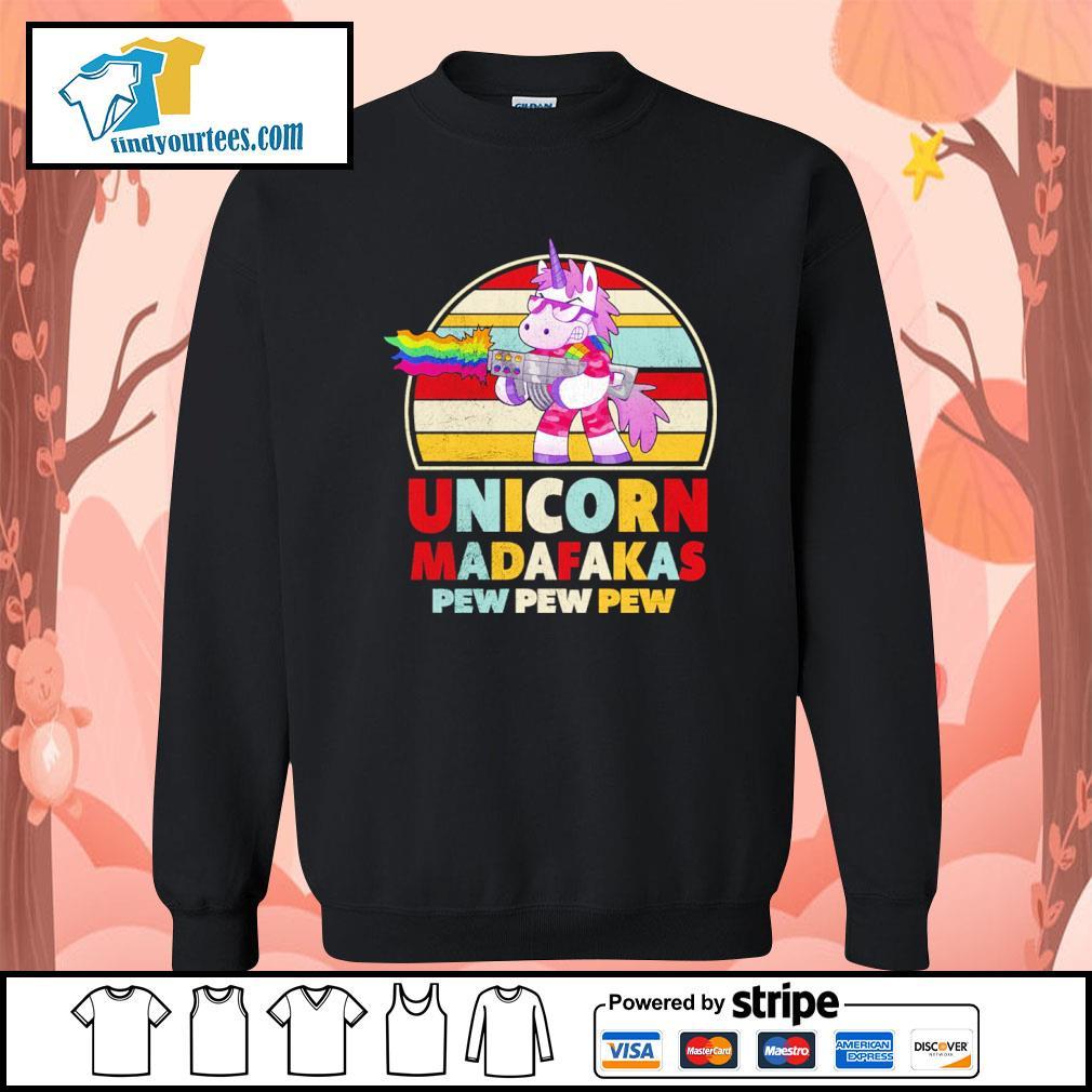 Unicorn madafakas pew pew pew vintage LGBT s sweater