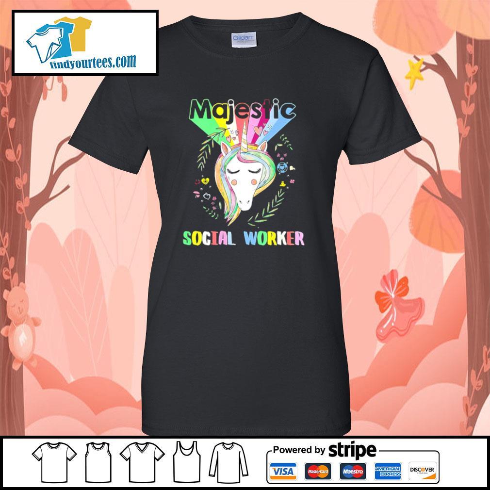 Unicorn majestic social worker s ladies-tee