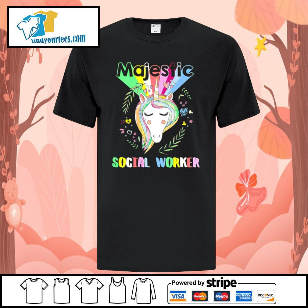 Unicorn majestic social worker shirt