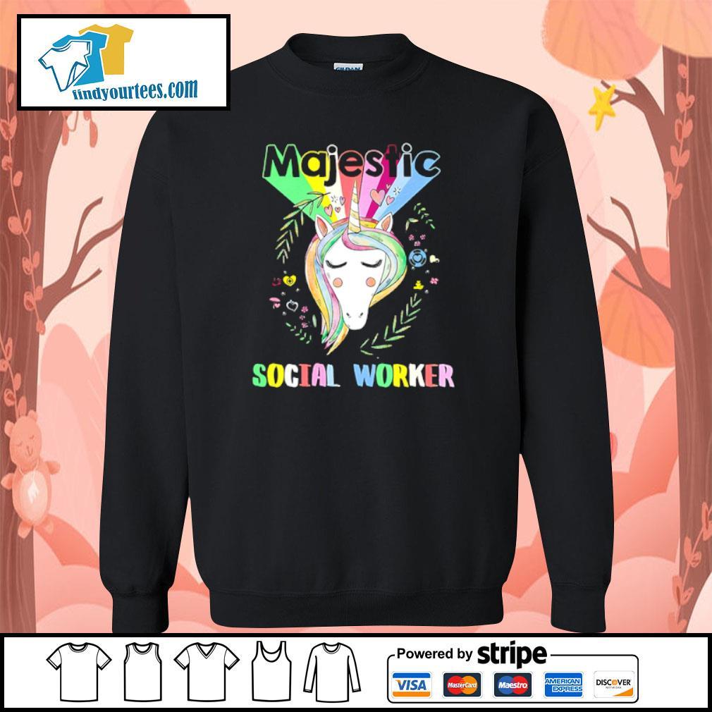 Unicorn majestic social worker s sweater