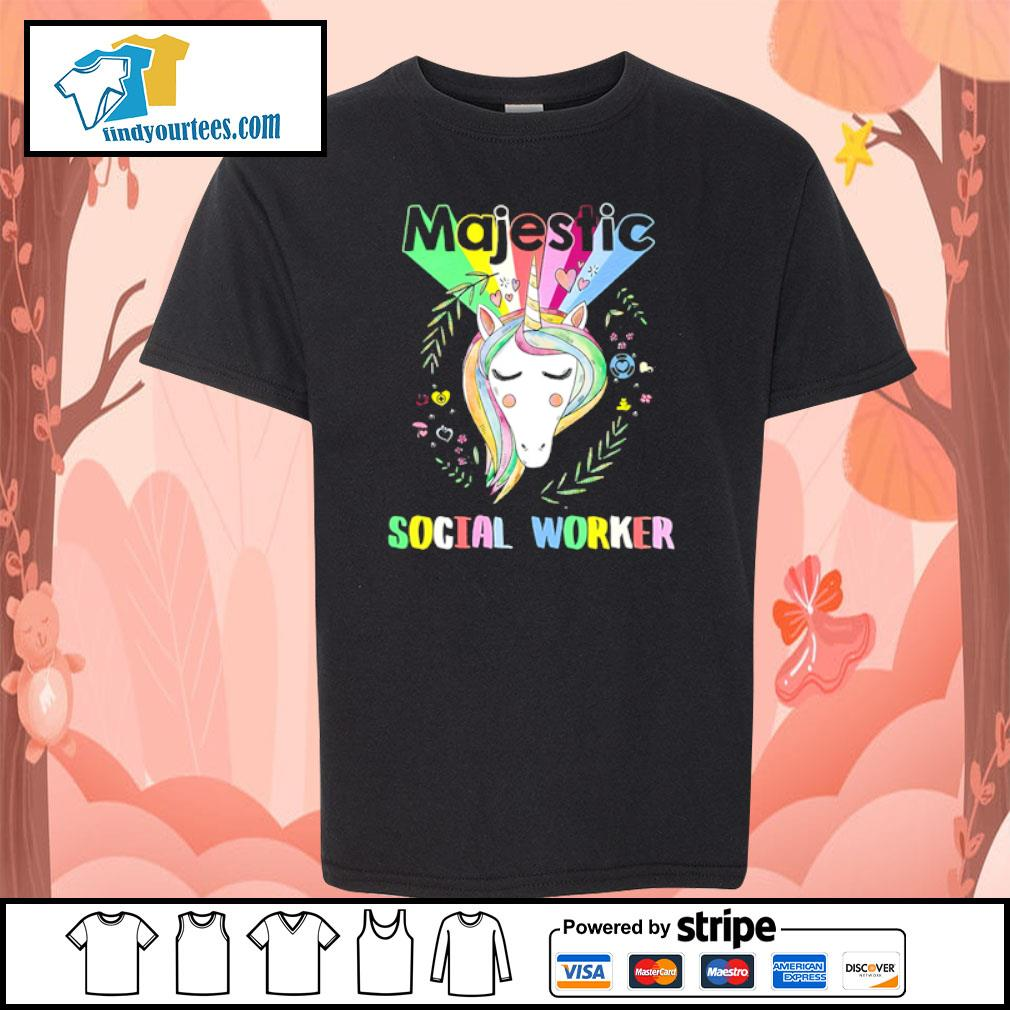 Unicorn majestic social worker s youth-tee