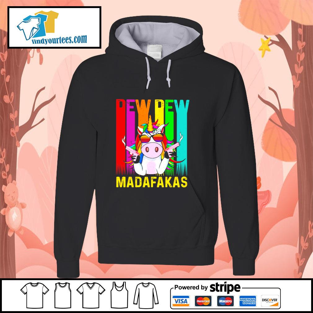 Unicorn pew pew madafakas LGBT s hoodie