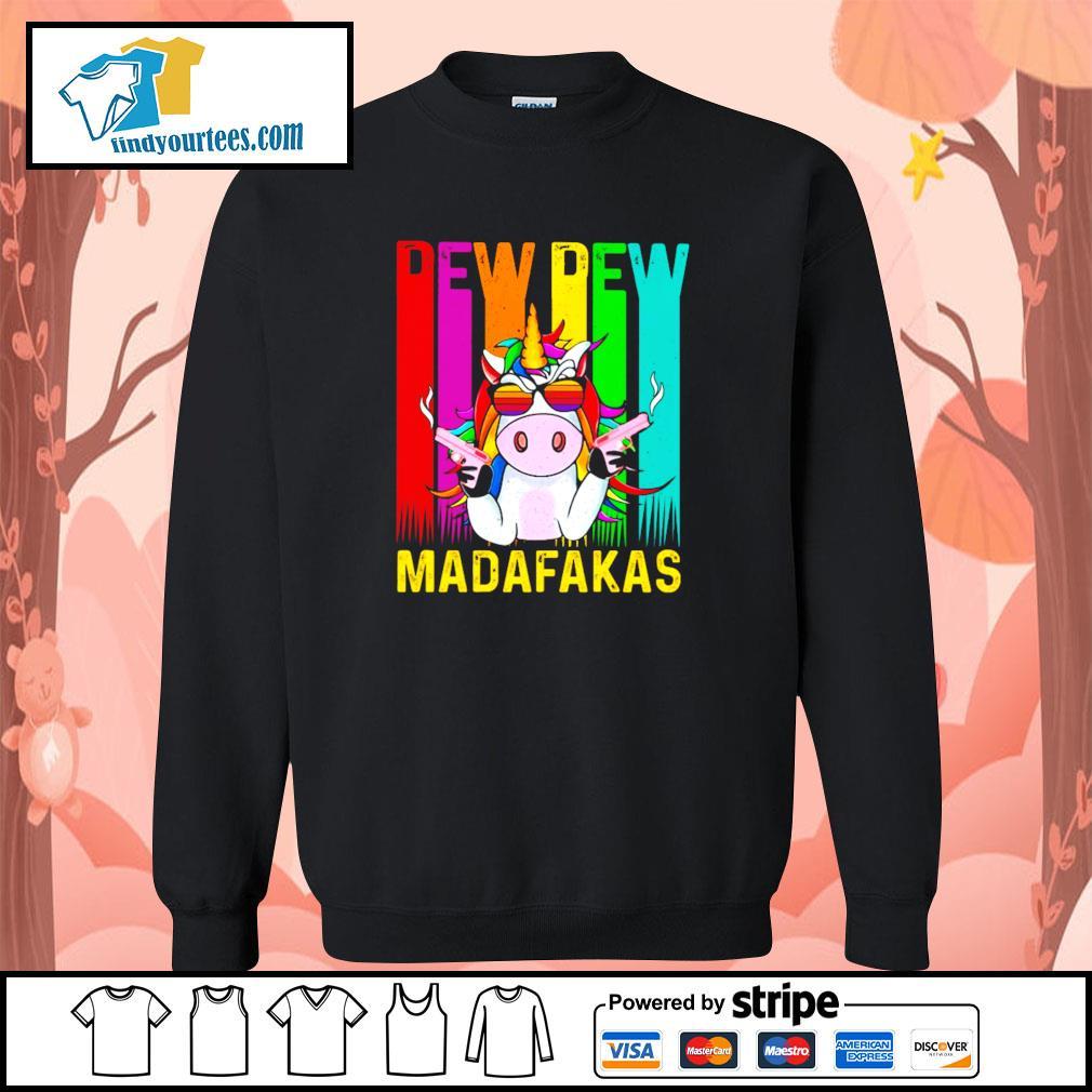 Unicorn pew pew madafakas LGBT s sweater