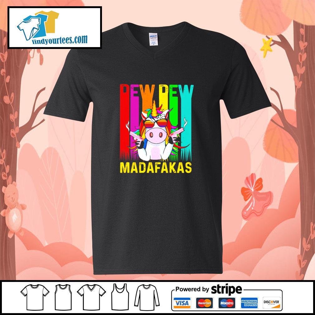 Unicorn pew pew madafakas LGBT s v-neck-t-shirt