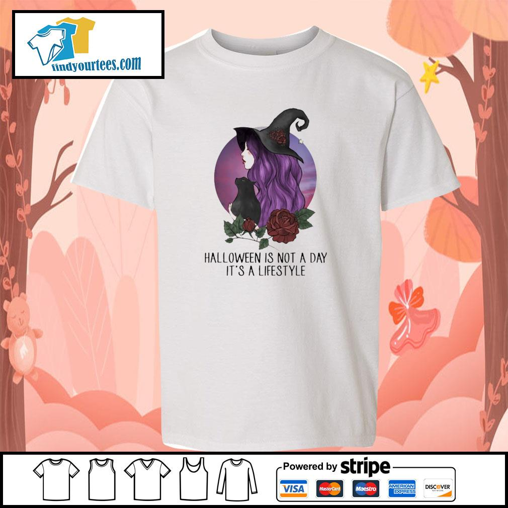 Witch halloween is not a day it's lifestyle s youth-tee
