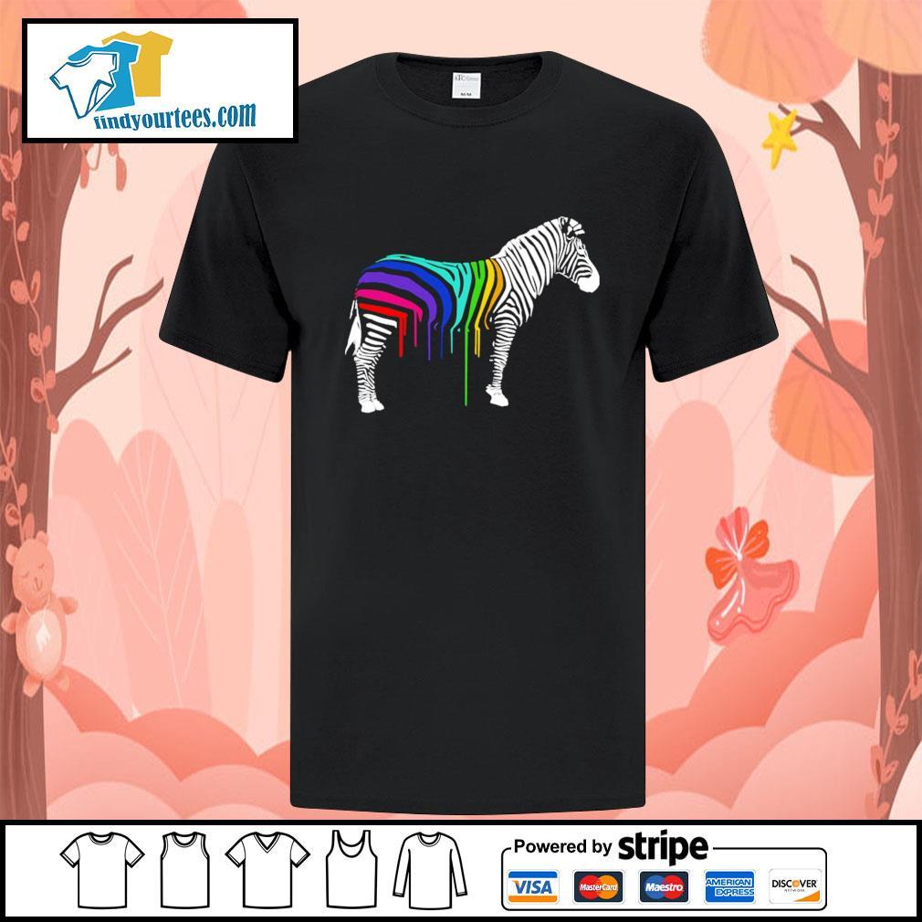 Zebra stripes LGBT shirt