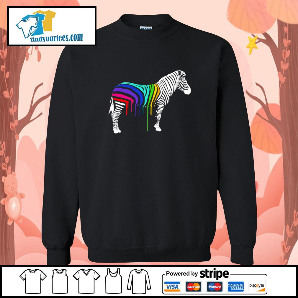 Zebra stripes LGBT s sweater