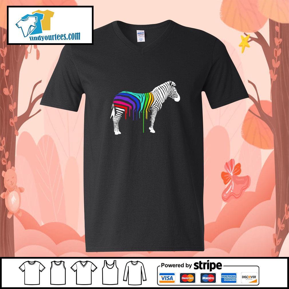 Zebra stripes LGBT s v-neck-t-shirt