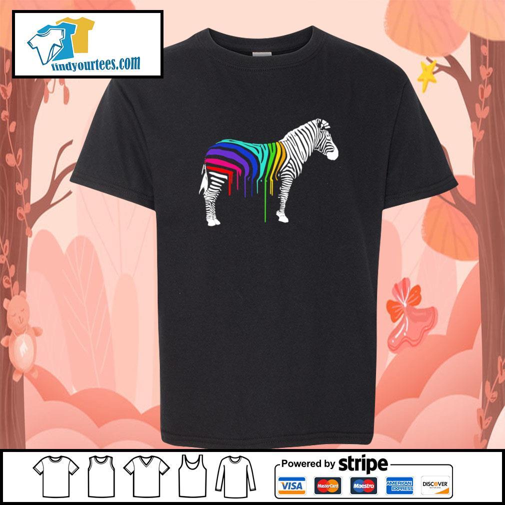Zebra stripes LGBT s youth-tee
