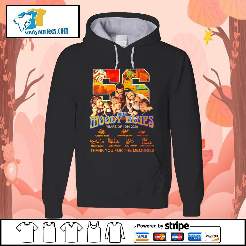 56 The moody blues years of 1964 2020 thank you for the memories s Hoodie