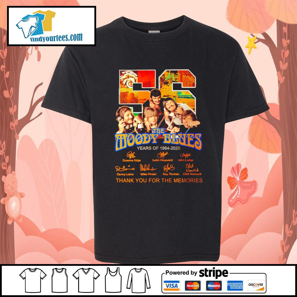 56 The moody blues years of 1964 2020 thank you for the memories s Kid-T-shirt