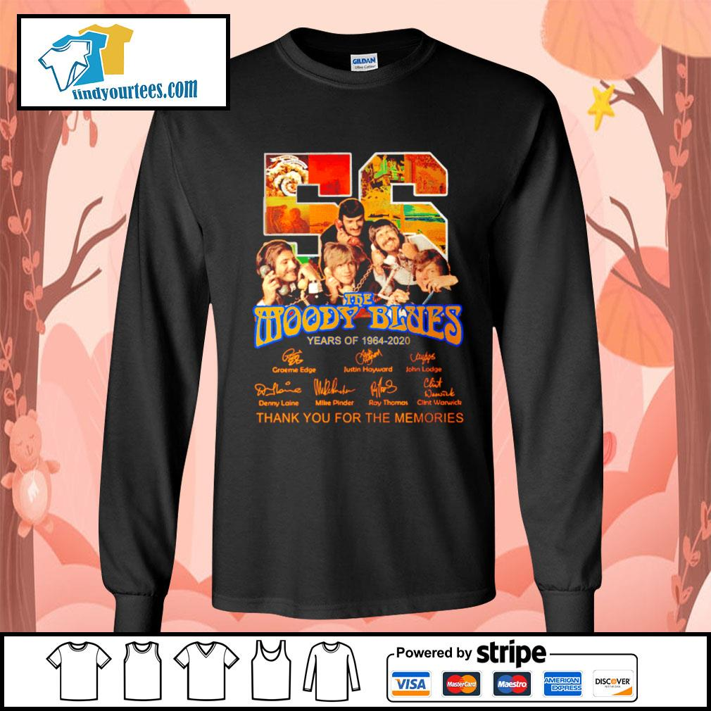 56 The moody blues years of 1964 2020 thank you for the memories s Long-Sleeves-Tee