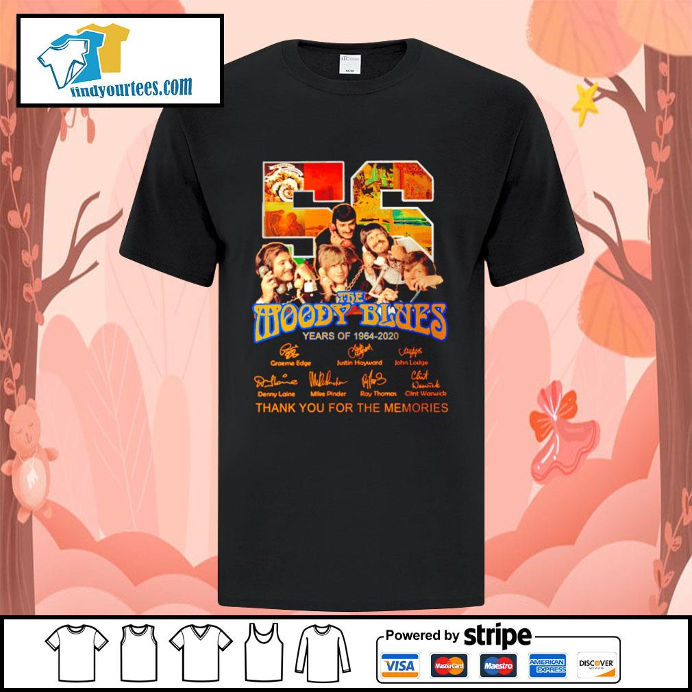 56 The moody blues years of 1964 2020 thank you for the memories shirt