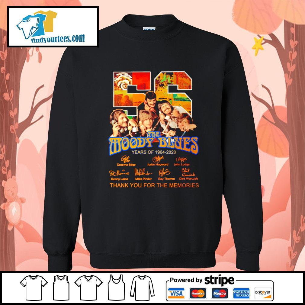 56 The moody blues years of 1964 2020 thank you for the memories s Sweater