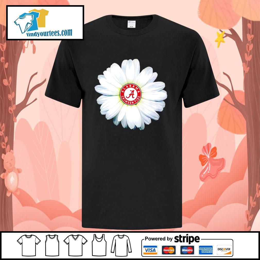 Alabama Crimson Tide daisy flower shirt
