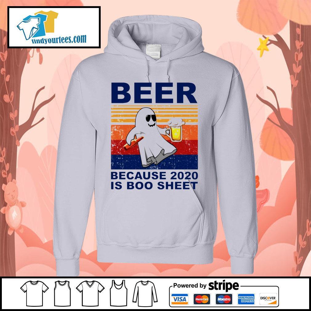 Beer because 2020 is boo sheet vintage Halloween s Hoodie