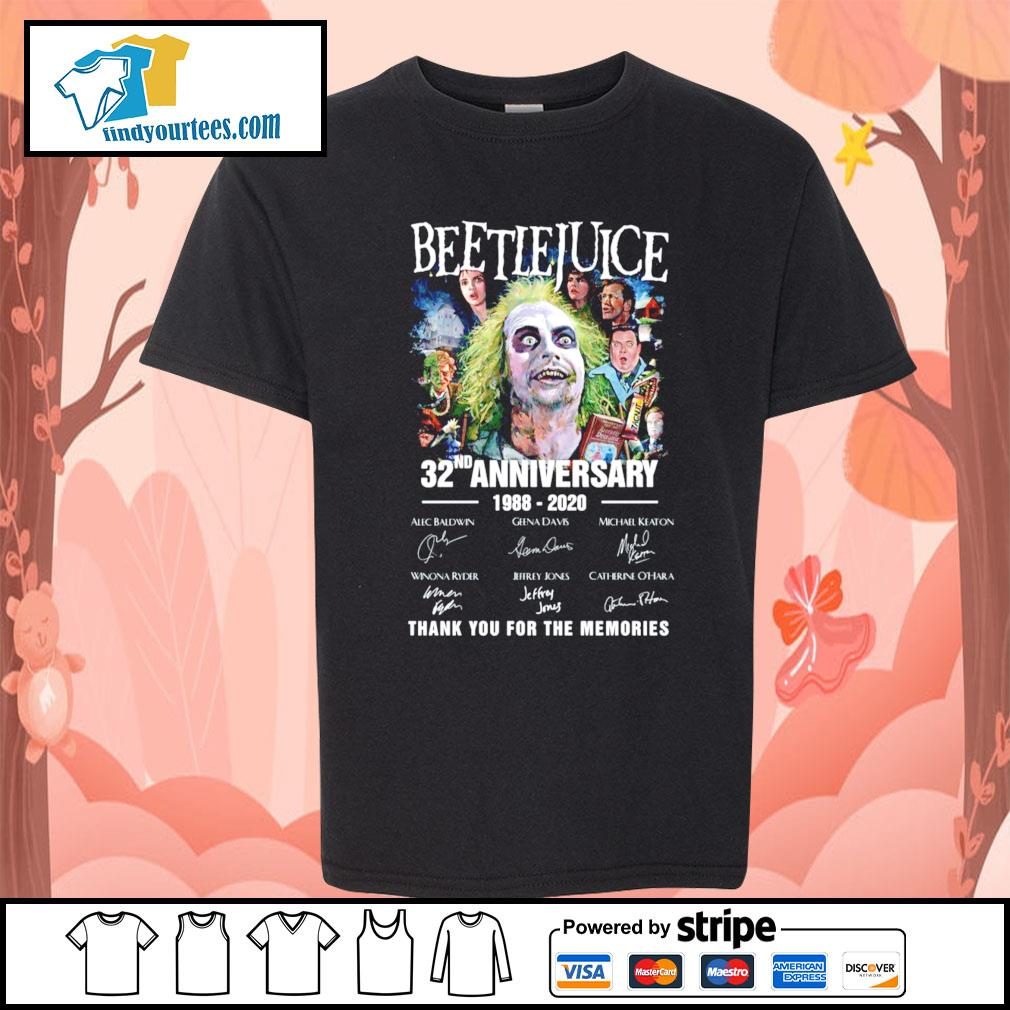 Beetlejuice 32nd anniversary 1988 220 thank you for the memories s Kid-T-shirt