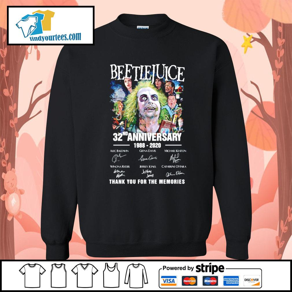 Beetlejuice 32nd anniversary 1988 220 thank you for the memories s Sweater