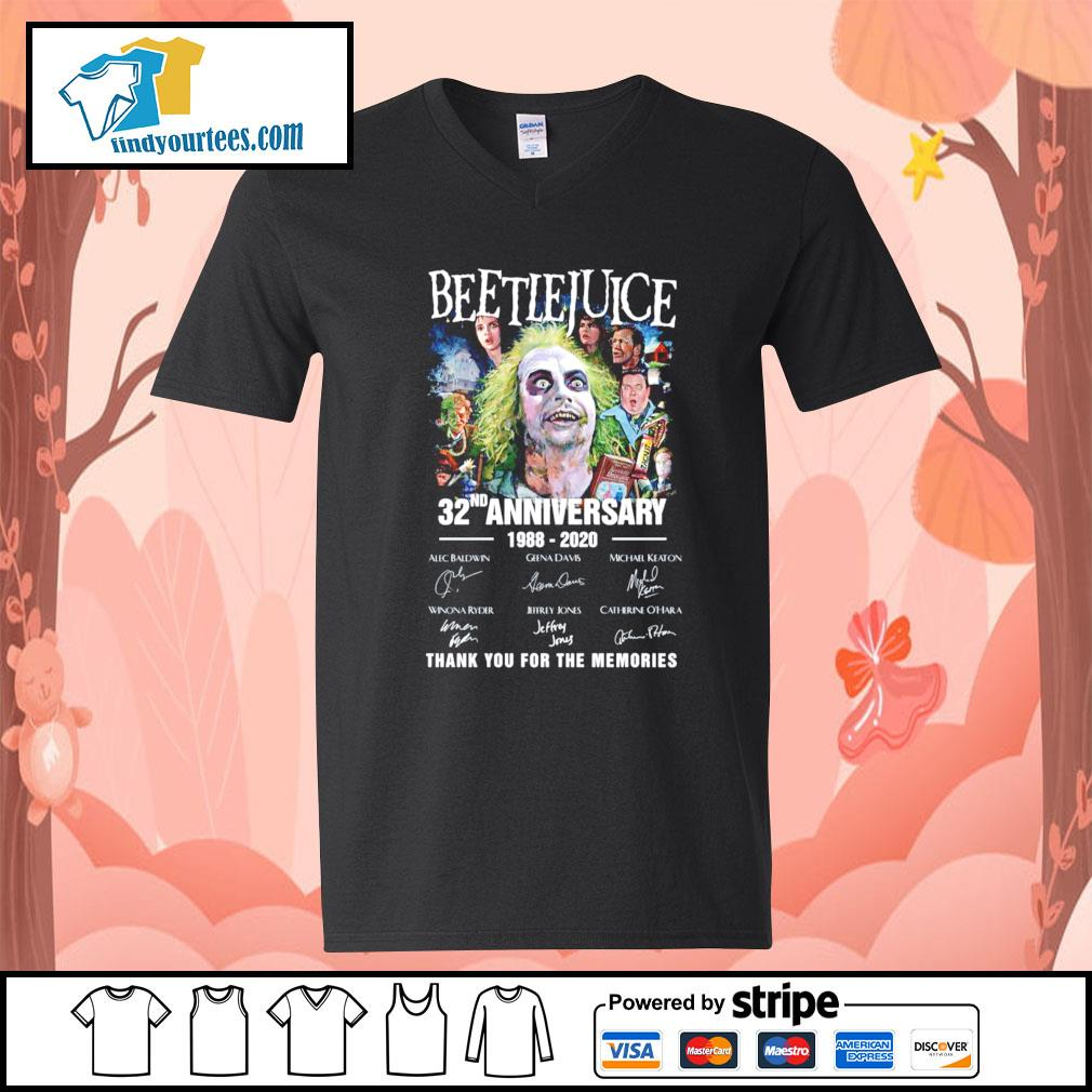 Beetlejuice 32nd anniversary 1988 220 thank you for the memories s V-neck-T-shirt