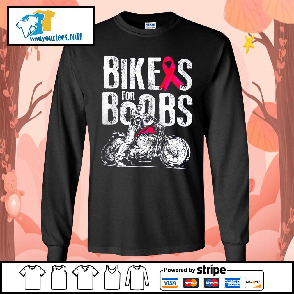Bikes for boobs s Long-Sleeves-Tee