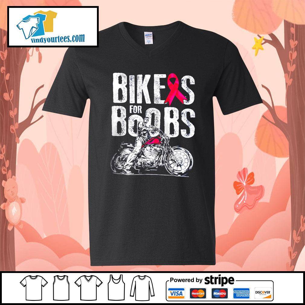 Bikes for boobs s V-neck-T-shirt