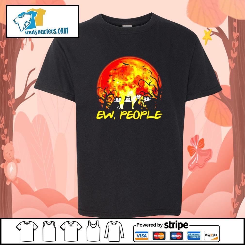 Black cat ew people Halloween s Kid-T-shirt