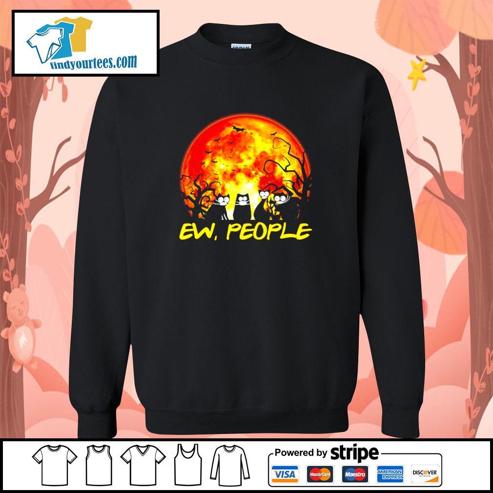 Black cat ew people Halloween s Sweater