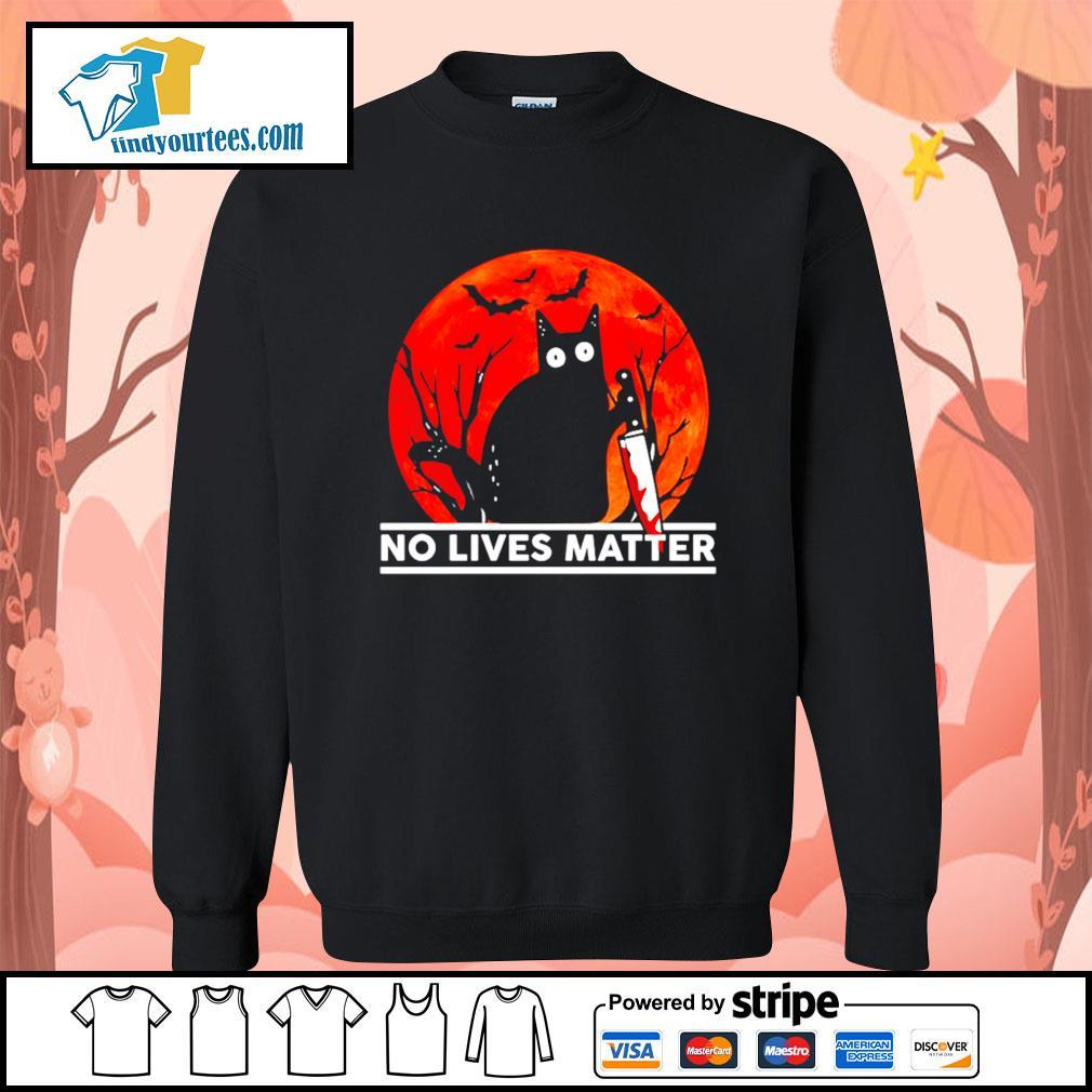 Black cat no lives matter Halloween s Sweater