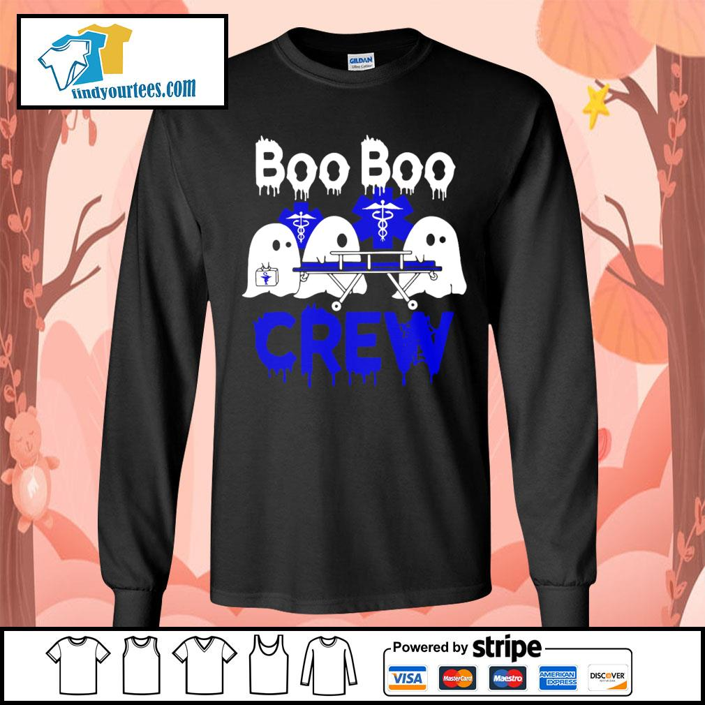 Boo Boo Crew Nurse Halloween s Long-Sleeves-Tee
