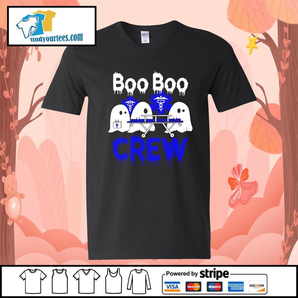 Boo Boo Crew Nurse Halloween s V-neck-T-shirt