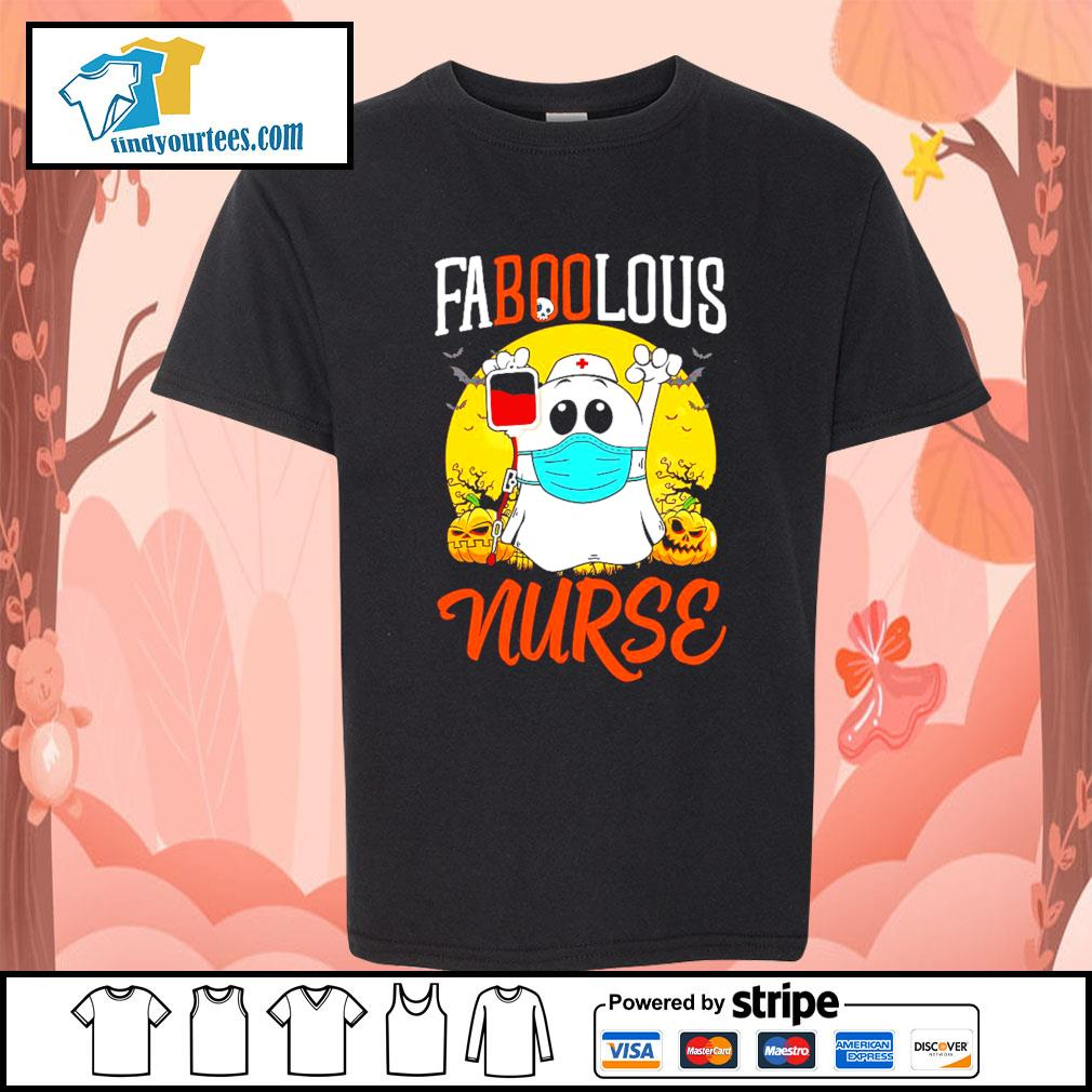 Boo Ghost Faboolous nurse Halloween s Kid-T-shirt