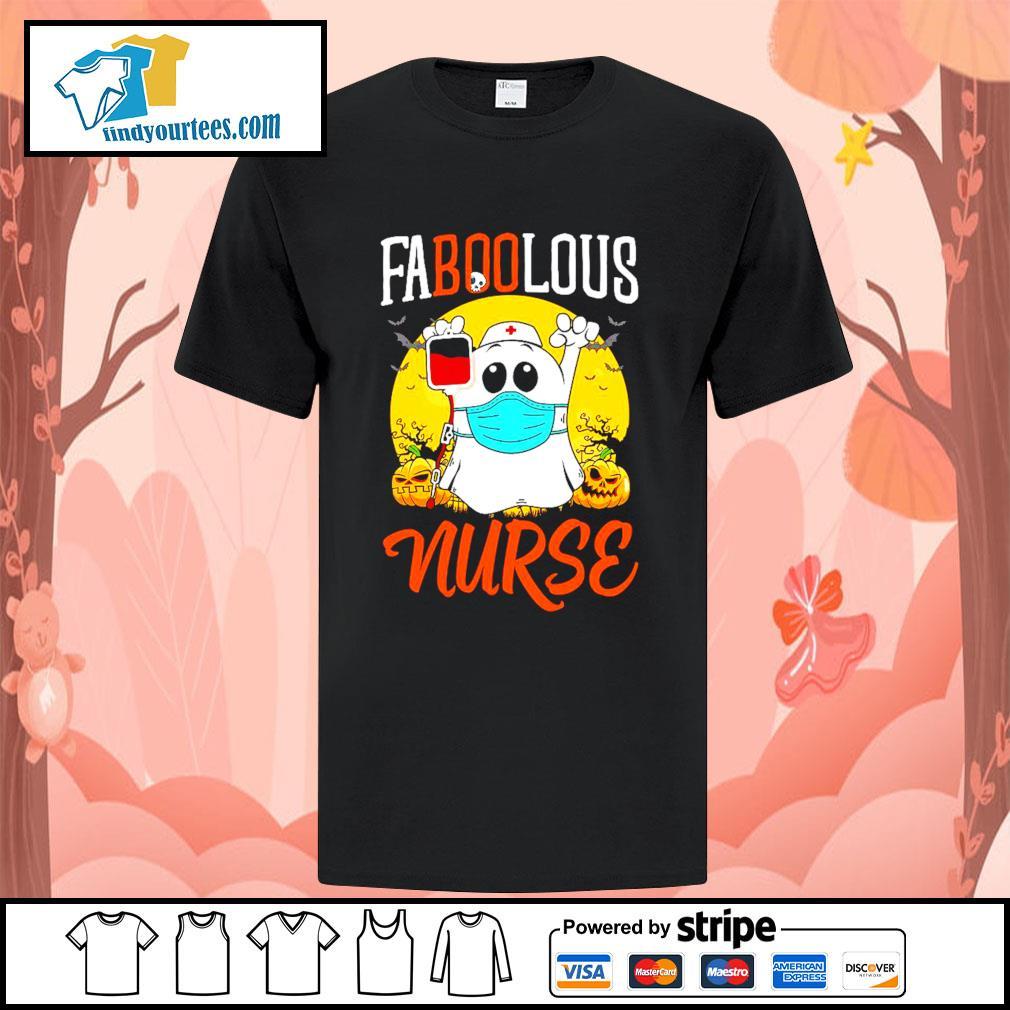 Boo Ghost Faboolous nurse Halloween shirt