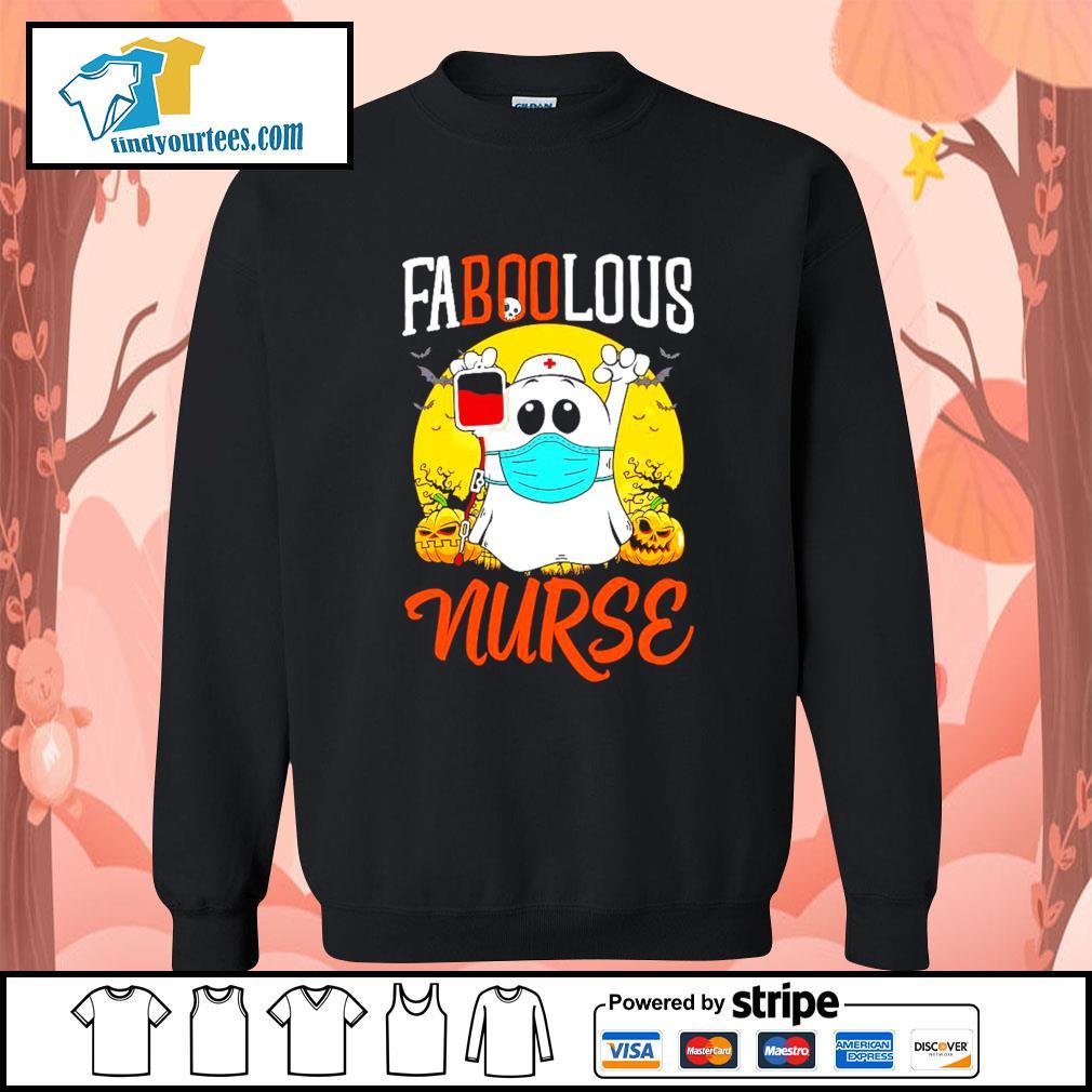 Boo Ghost Faboolous nurse Halloween s Sweater
