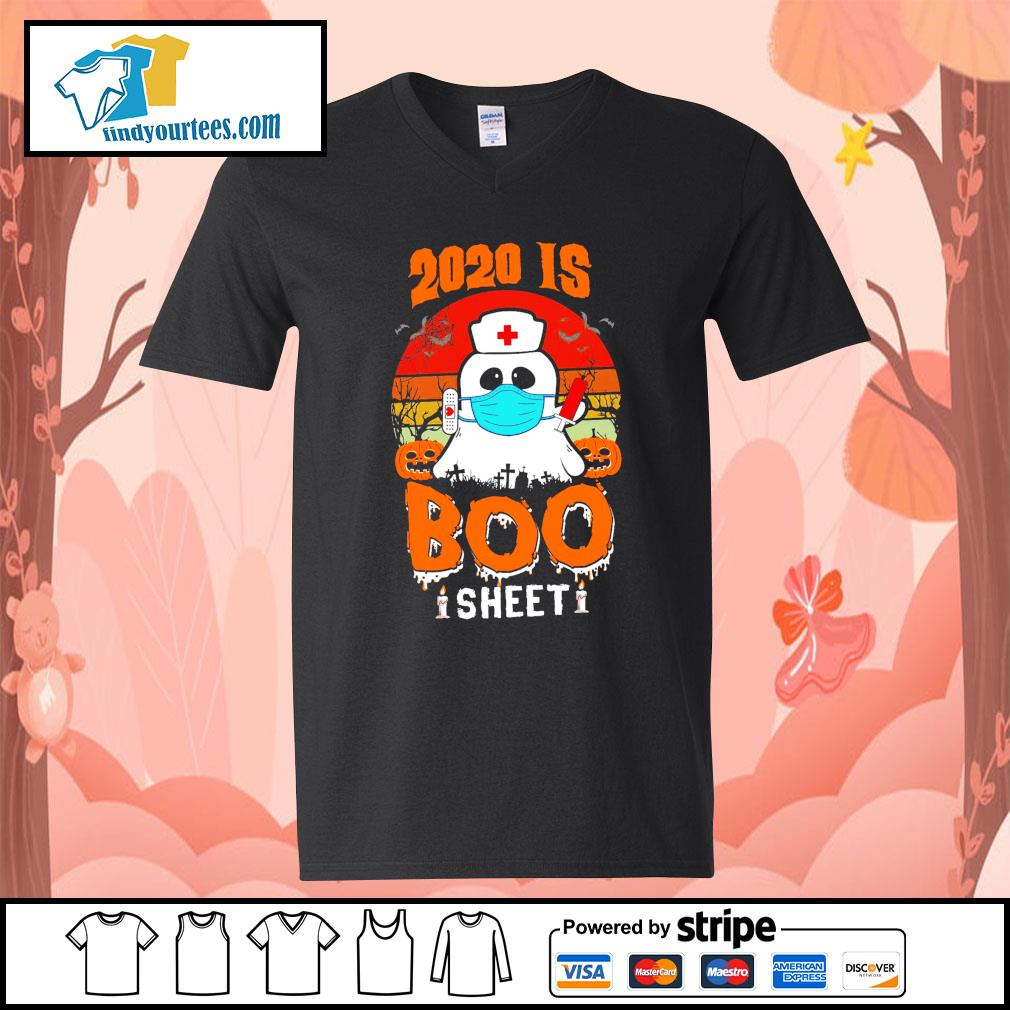 Boo Nurse 2020 is boo sheet s V-neck-T-shirt