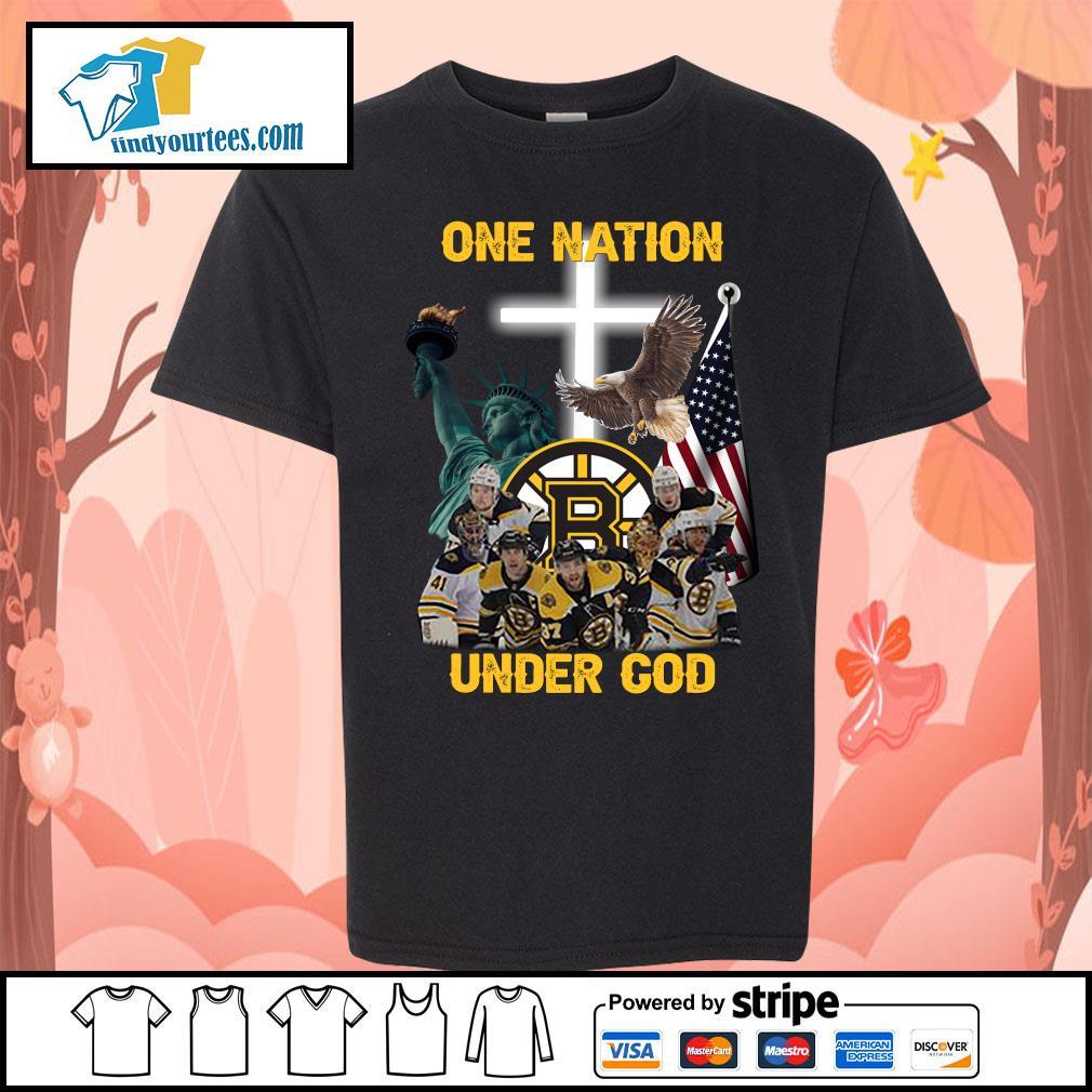 Boston Bruins one nation under god s Kid-T-shirt