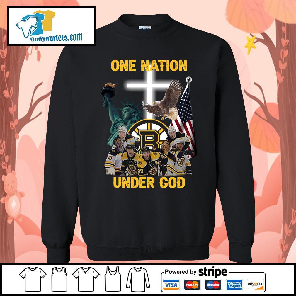 Boston Bruins one nation under god s Sweater