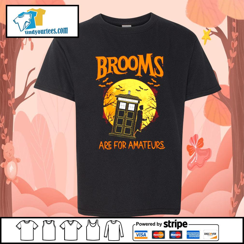 Brooms are for amateurs Halloween s Kid-T-shirt