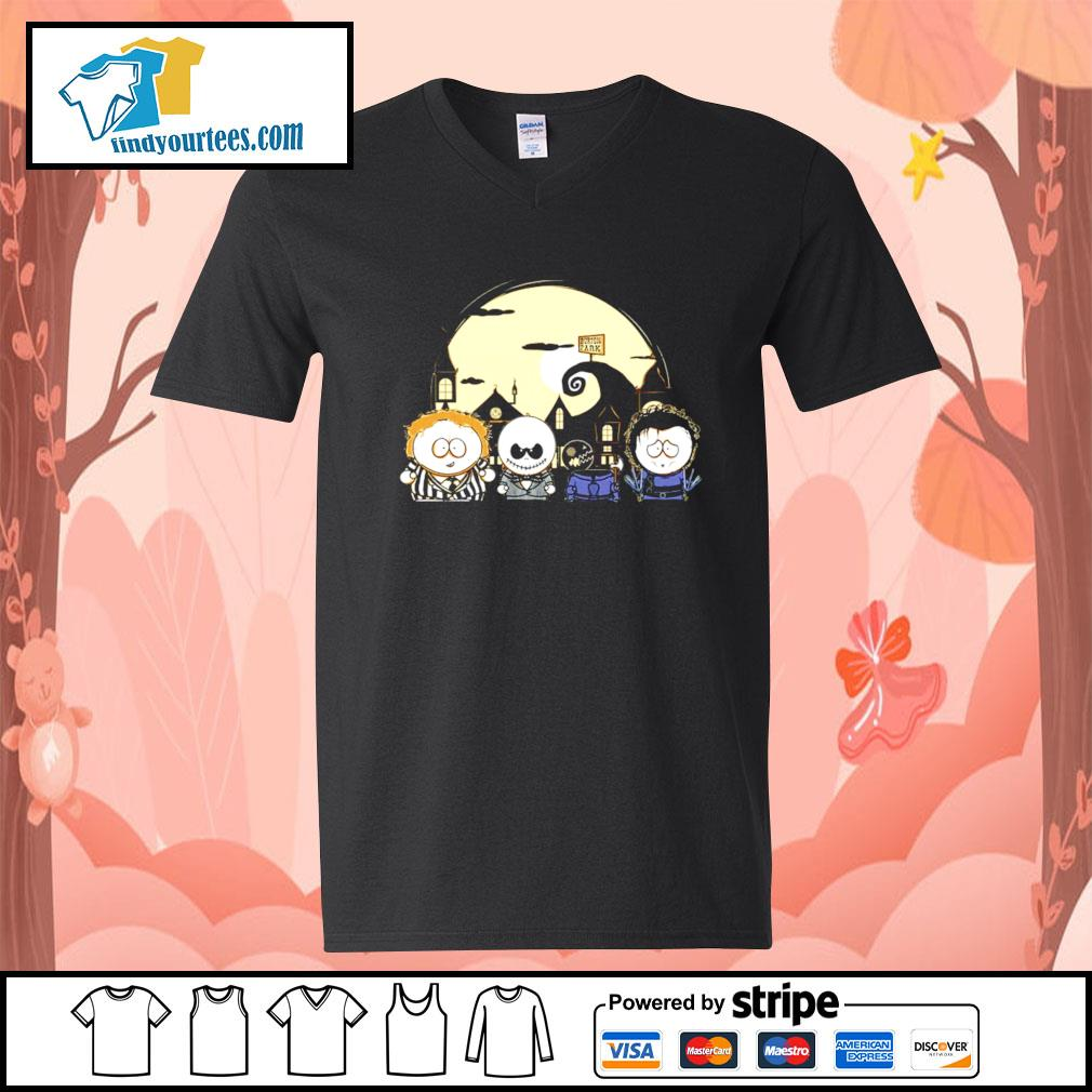 Burton Park Tim Burton Movie Mashup Happy Halloween s V-neck-T-shirt