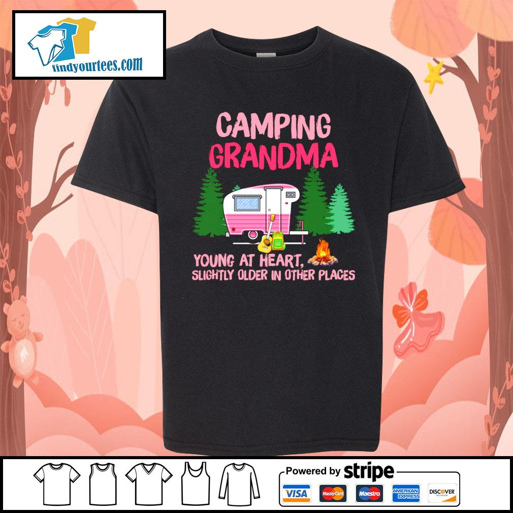 Camping Grandma young at heart slightly older in other places s Kid-T-shirt