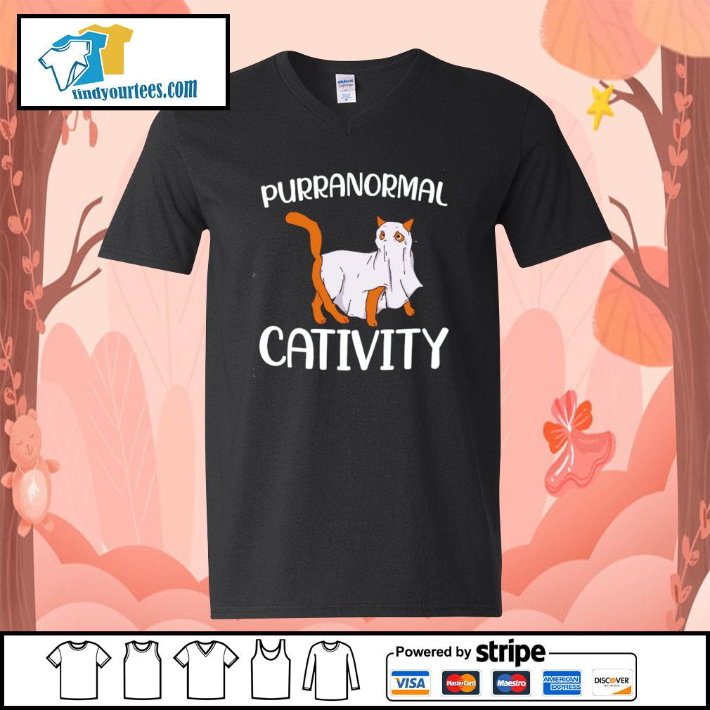 Cat purranormall cativity s V-neck-T-shirt