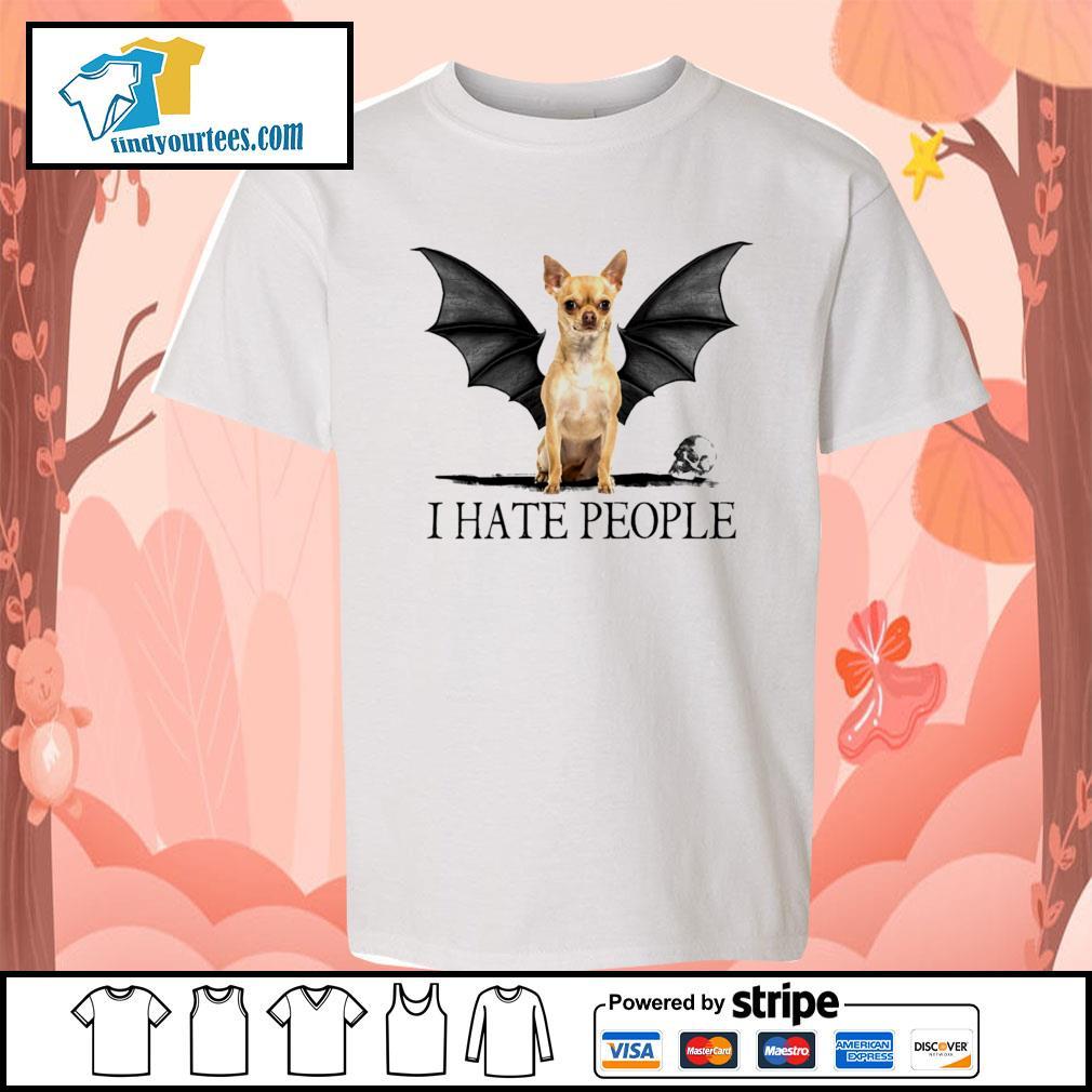 Chihuahua Batman I hate people Halloween s Kid-T-shirt