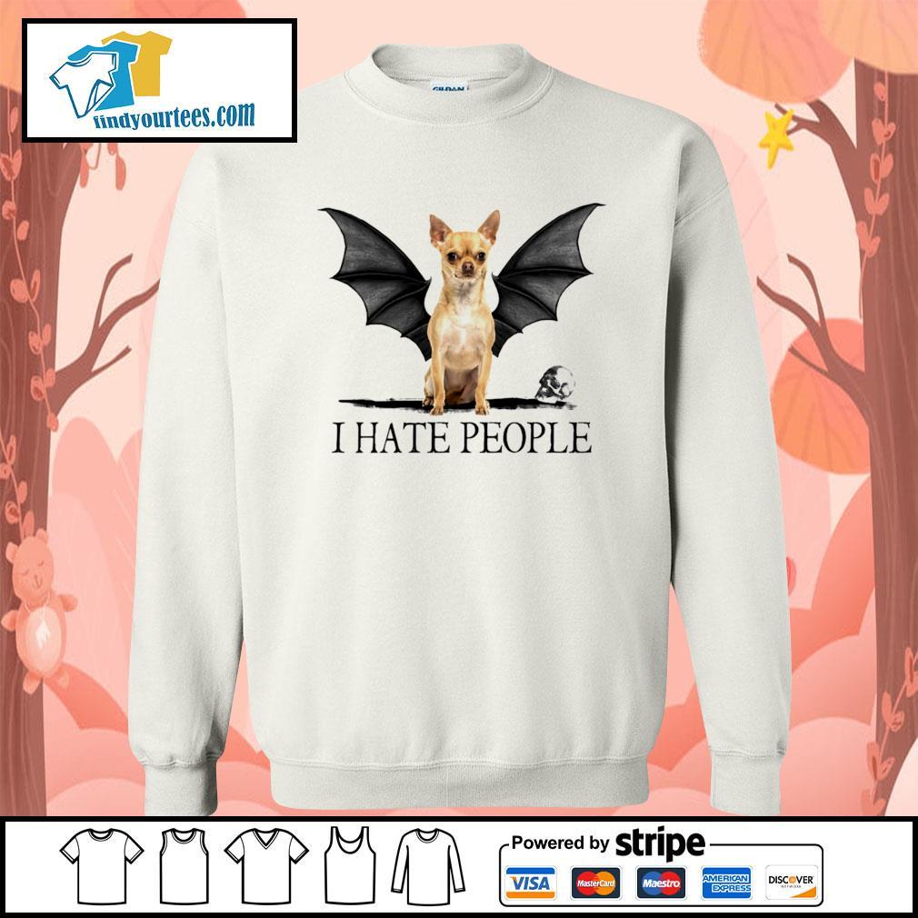 Chihuahua Batman I hate people Halloween s Sweater